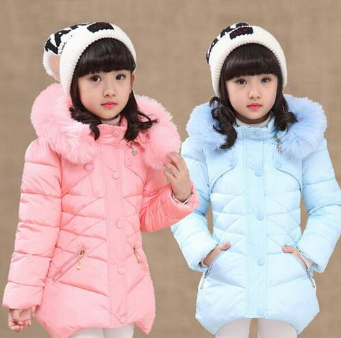 2018 Girls Winter Warm Faux Fur jackets Long Cotton Coat Girls Christmas Hooded School Cute Outerwear Girl Winter Jacket Parkas цены