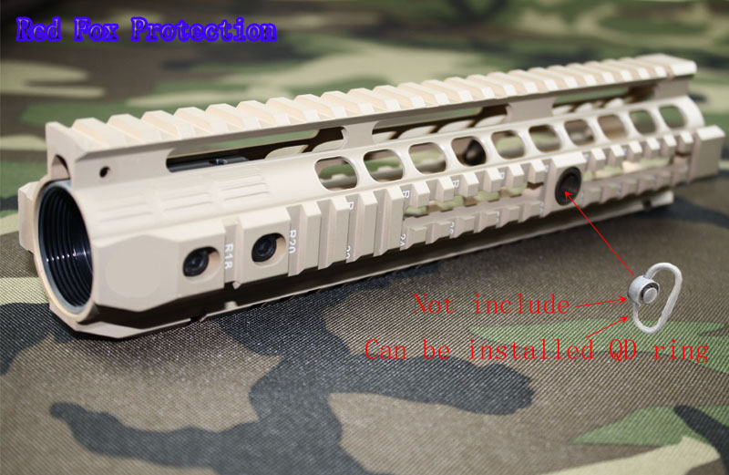 New high quality of 10.0 inch weaver rail for AEG M4 / M16 /<font><b>AR</b></font> <font><b>15</b></font> Tactical <font><b>Handguard</b></font> Rail System TAN image
