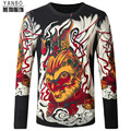 Chinese style monkey king pattern personalized printing men sweater 2016 Autumn&Winter fashion slim quality sweater men M-4XL