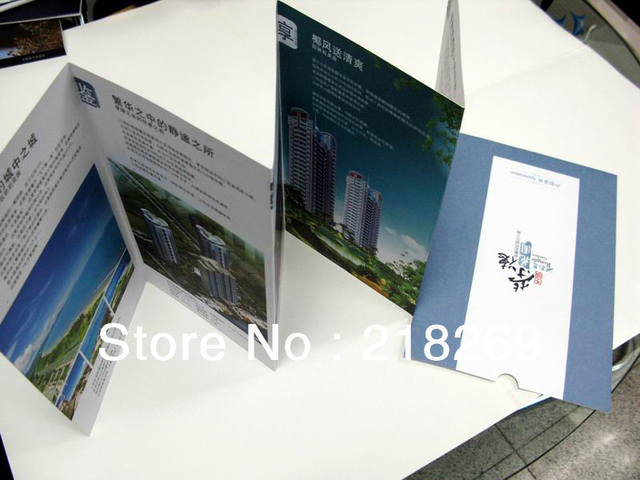 folded brochure printing print advertising foldaway brochure