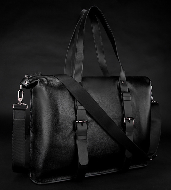 High Class Genuine Leather Men Briefcase Black men Shoulder bag Real Leather Messenger Bag male Tote Bag large Handbag