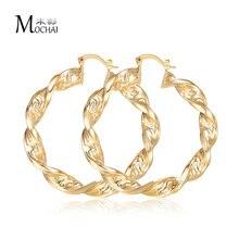 Новые модные серьги-кольца с большими кругами в стиле панк, с узором в виде большой стены, витые Золотые женские вечерние серьги,, высокое качество zk30
