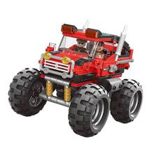 The super big foot car Set Assemblage Car Series Building Blocks Bricks Toys For Boy's Educational Gifts Model Toy 7pcs tbbt figure set sheldon leonard the big bang theory bernadette rajesh howard amy penny building blocks set model bricks toy