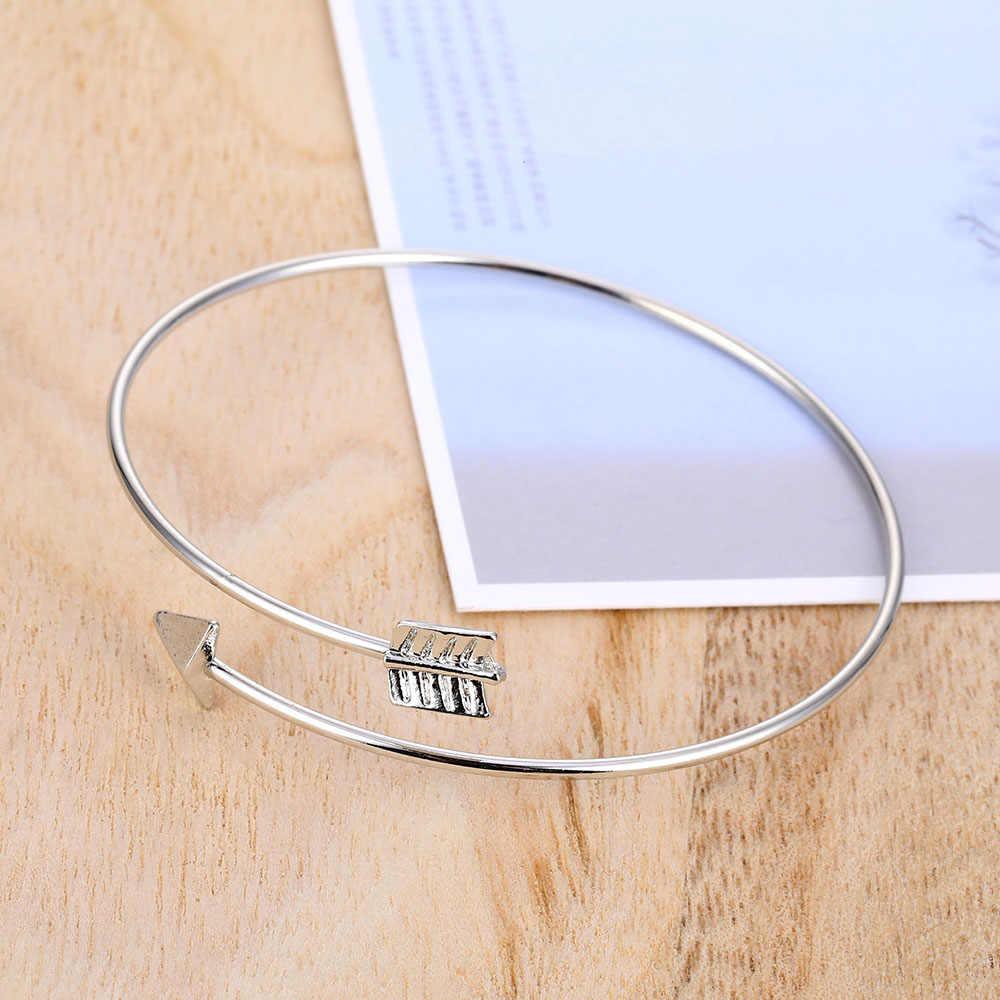 IPARAM moda geometria Charm bransoletki 2020 Retro kobiet strzałka bransoletka z węzłem męska i damska prosty Trend biżuteria hurtowych
