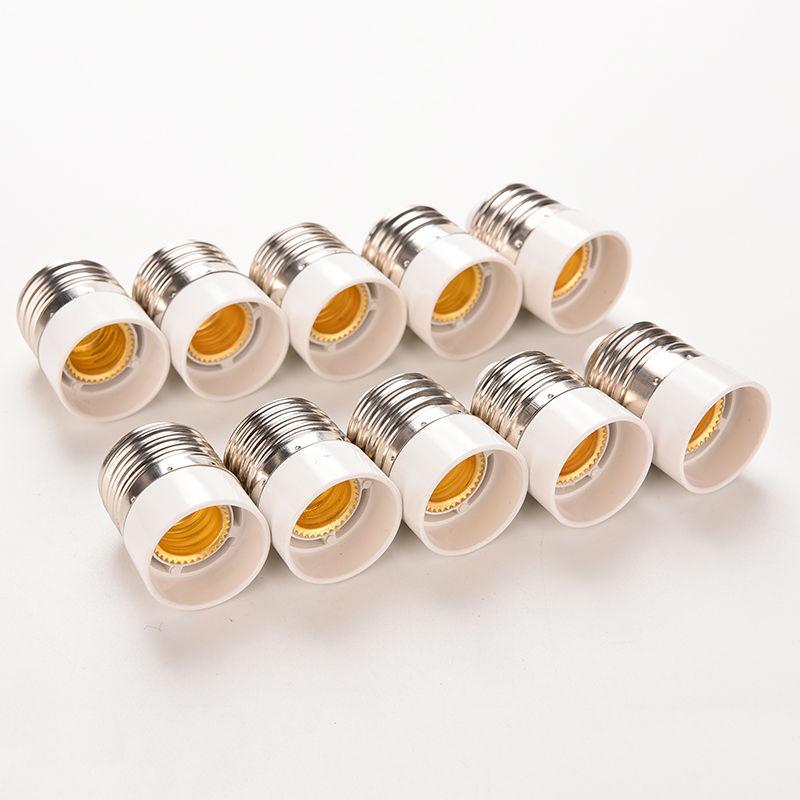 5Pcs/lot  Fireproof Material E27 To E14 Lamp Holder Converter Socket Conversion Light Bulb Base Type Adapter