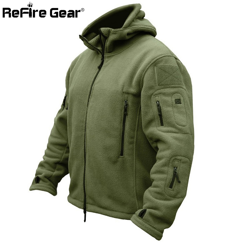Winter Military Tactical Fleece Jacket Men Warm Polar Army Clothes Multiple Pocket Outerwear Casual Thermal Hoodie Innrech Market.com