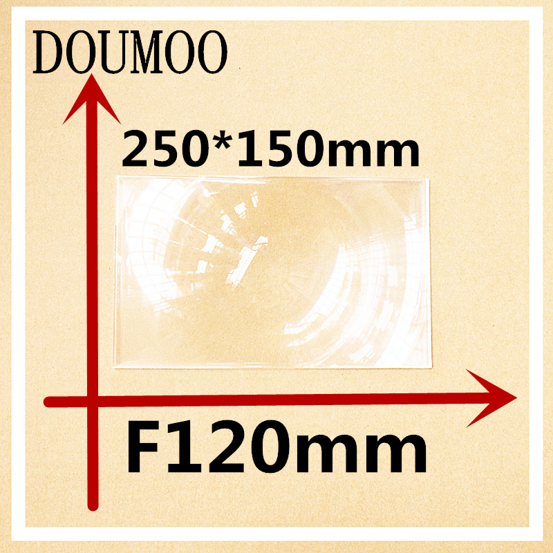 250*150 mm Optical PMMA Plastic linear Fresnel Lens focal length 120 mm Fresnel Lens Plane Magnifier Solar Energy Concentrator 2pcs 124mm dia round optical pmma plastic fine screw thread solar condensing fresnel lens large focal length 120mm 150mm 190mm