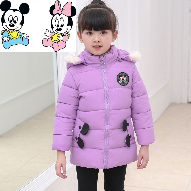 Winter Warm Cotton-padded Clothes  Kids Girls Winter Coat Jacket Padded Down Short Thick Boy Baby Coat 2017 new boys winter thick warm coat kids school hooded casual jacket kid snow outerwear down cotton padded winter coats clothes