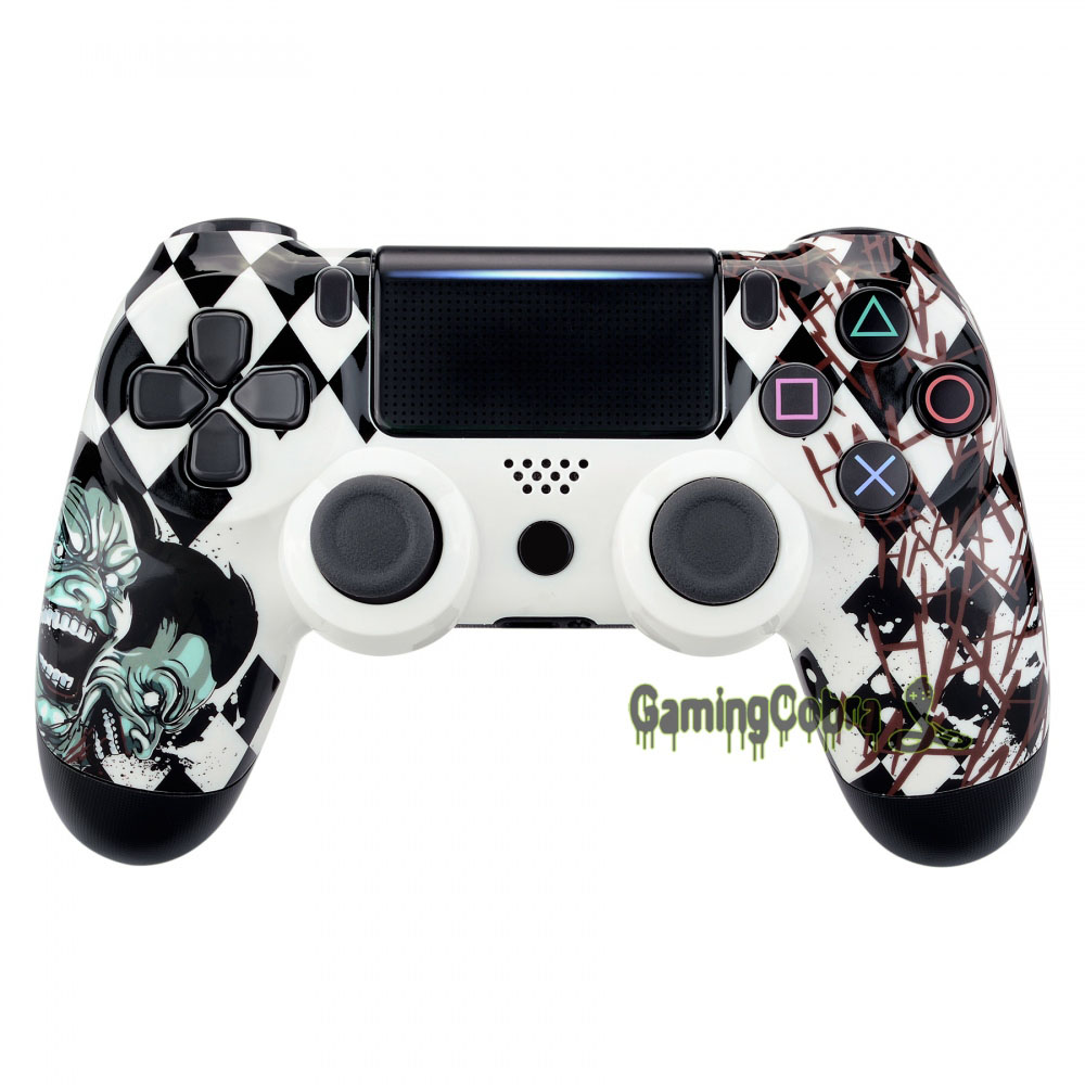 Joker Hydro Dipped Front Housing <font><b>Shell</b></font> Faceplate Cover Replacement Kit for PS4 Slim Pro CUH-ZCT2 <font><b>JDM</b></font>-040 050 <font><b>055</b></font> - SP4FT13 image