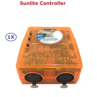 1XLot Carton Package Dj Controller USB Sunlite SL 1024 DMX Lighting Console For Stage Light With Computer DMX512 USB Interface