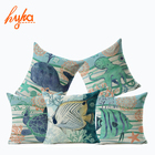 Hyha Marine Cushion Cover Home Decor Decorative Pillow Case On Couch Starfish Whale Home Decorative Pillows Cover for Sofa