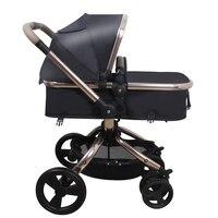 Ru Бесплатная доставка! Детская коляска Высокая Ландшафтная тележка может вращаться на 360 градусов коляска может сидеть и лежать Складная 2 в
