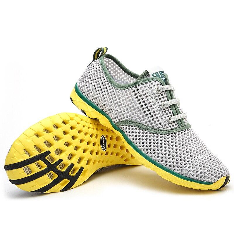 Almofada verão Homens Respirável Sapatos Casuais Leves Sapatos de Caminhada Dos Homens Ao Ar Livre Sapatos de Água Tamanho Grande 14 Zapatillas Mujer Sapato
