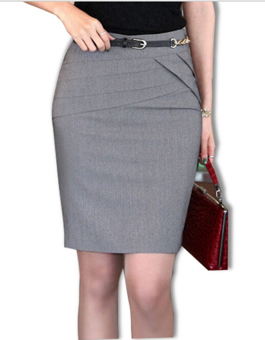 90c4670185 2016 Autumn Summer Women Career Short Formal Skirts Ladies Sexy High Waist  Knee Length Pencil Skirt 4 Colors Plus Size-in Skirts from Women's Clothing  on ...