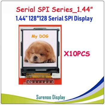 10 unidades X 128 pulgadas 128*1,44 SPI serie TFT LCD Módulo de pantalla IC ST7735S para MCU sin Panel táctil