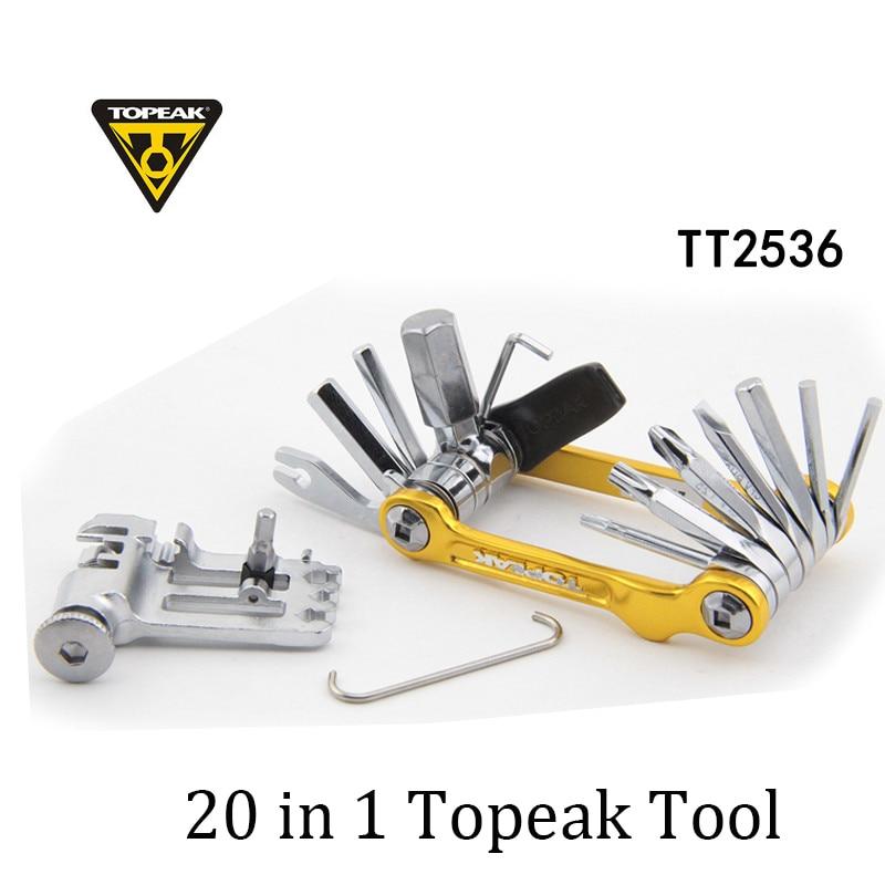 Topeak TT2536 Mini 20 Pro Multi outil pour les outils de réparation de VTT de vélo de route