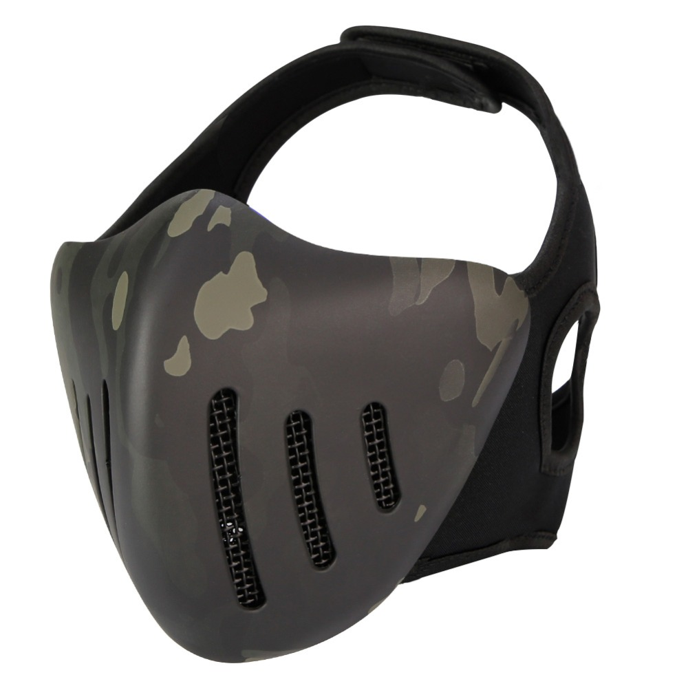 WoSporT Tactical Half Face Mask Airsoft Paintball Protective Masks Hunting Shooting CS Military Game Glory Knight Mask