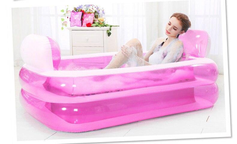 Baignoire gonflable baignoire pliante épaississement baignoire adulte bassin de bain enfant seau de bain plastique PVC piscine pour enfants
