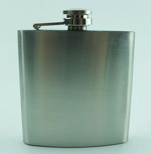 Stainless Steel Hip Flask Whiskey Wine Pot Bottle Portable Lighter Mini Alcohol Bottle 6oz mat surface