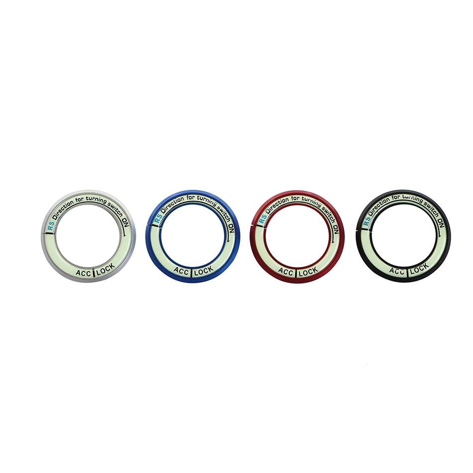 Aluminium Luminous Ignition Key Ring Sticker for Nissan Teana X-Trail Livina Sylphy Tiida Sunny March Murano Geniss Juke Almera