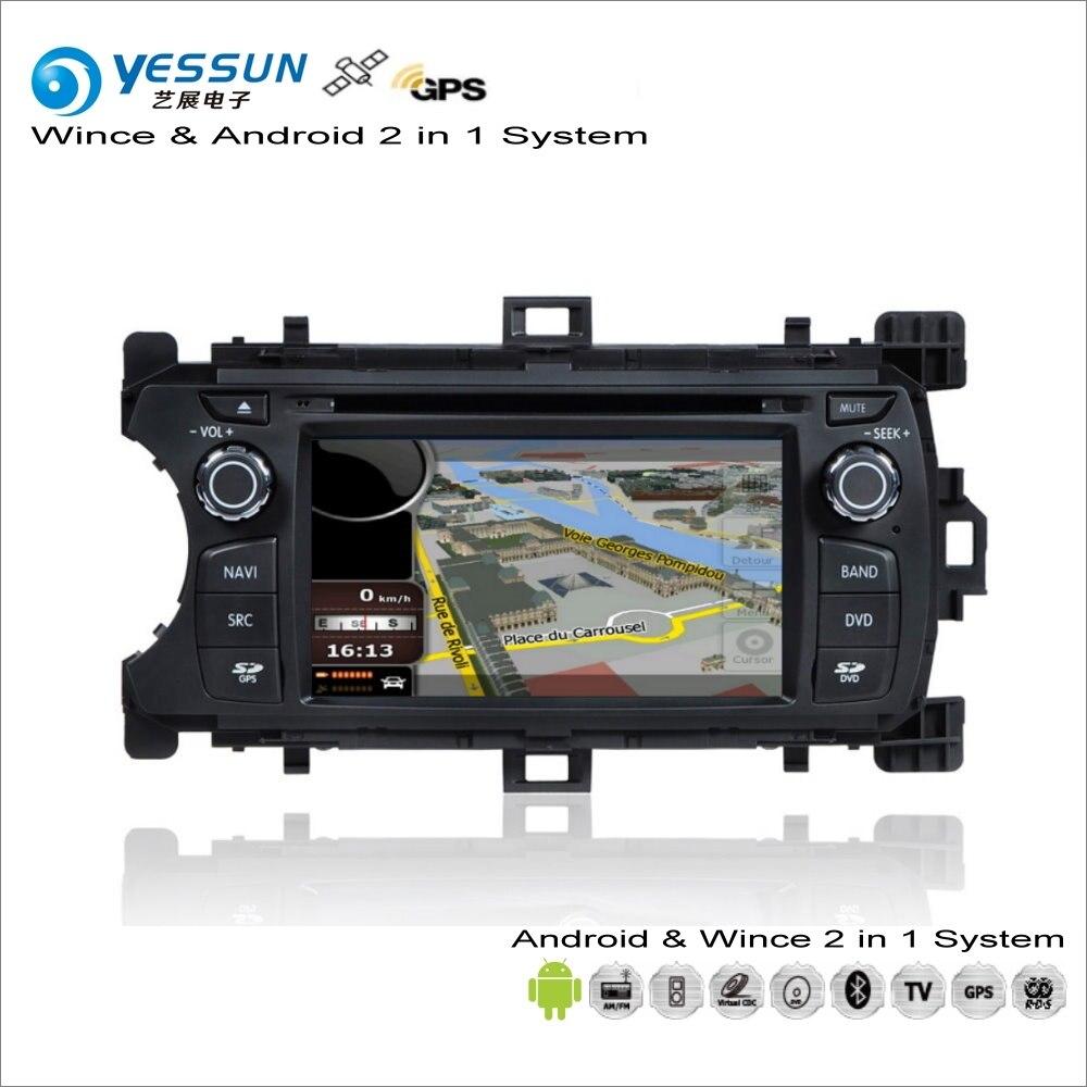YESSUN Pour Toyota Yaris/Vitz/Echo 2012 ~ 2013 De Voiture Android Radio CD Lecteur DVD GPS Navi Carte navigation Audio Vidéo Stéréo