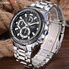 Новые наручные кварцевые часы Для мужчин лучший бренд класса люкс известный Нержавеющая сталь наручные часы мужской часы для Для мужчин hodinky Relogio Masculino