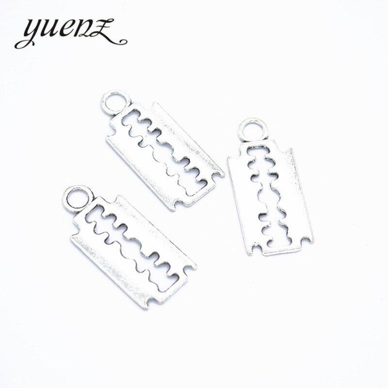YuenZ 30 шт античное посеребренное лезвие шармы Подвеска подходит для изготовления ювелирных изделий DIY ювелирные изделия 24*11 мм J323