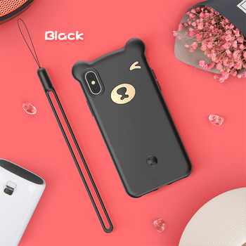 Soft Silicone Black iPhone Xs Case
