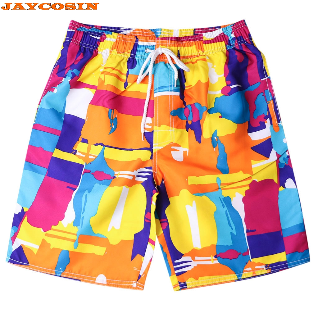 Imported From Abroad Jaycosin 2019 New Orange Painted Quick Dry Summer Mens Siwmwear Mens Beach Board Shorts Briefs For Men Swim Trunks Swim Shorts Beneficial To Essential Medulla Board Shorts