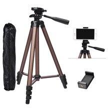 Fusitu WT3130 treppiedi in lega di alluminio Mini treppiede per fotocamera con supporto per Smartphone 1/4 vite per telefono cellulare con fotocamera DSLR