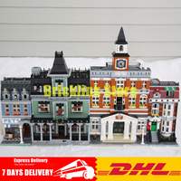 2018 DHL Lepin 15003+15009+16007 The Town Hall +Pet Shop+The haunted house Building Blocks Bricks Toys Clone 10224 10218 10228