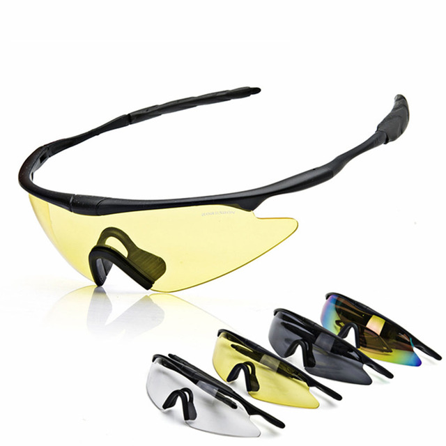 b825594598d1 Kacamata Olah Raga Mendaki Gunung Bersepeda Kacamata Anti Sinar UV  Perlindungan Mata Kacamata Windproof Taktis Kacamata