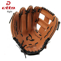 Etto High Quality PVC 10 11 Inches Men Professional Baseball Glove Right Hand Softball Training Glove