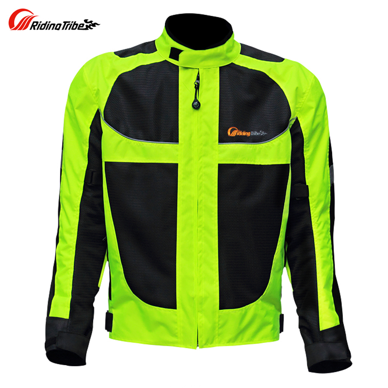Riding Tribe Green Summer Protective Mesh Moto Jackets Men Motorcycle Reflective Racing Jacket купить