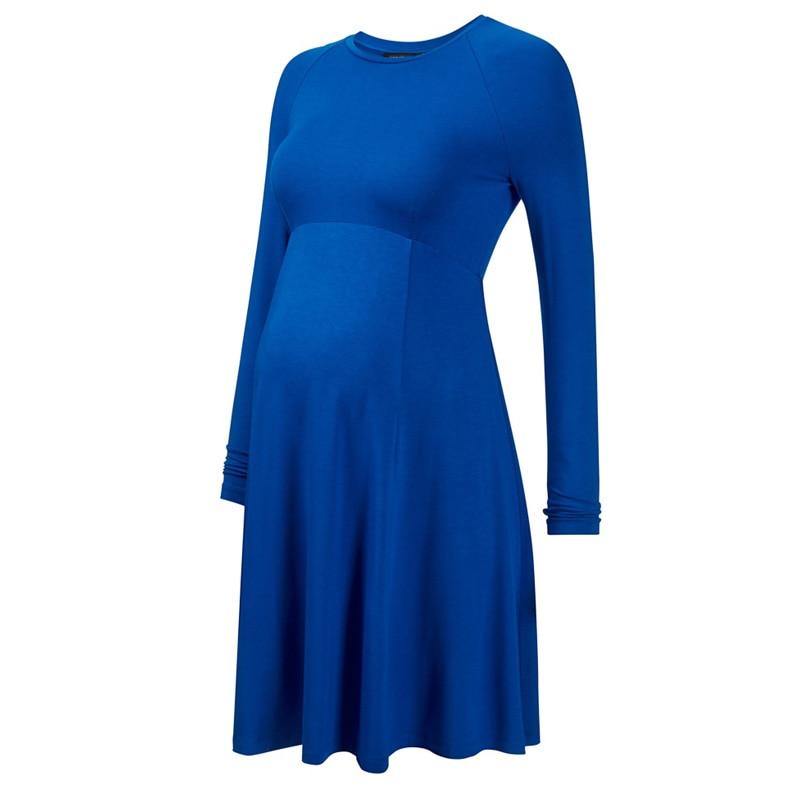 Spring Summer Long Sleeve Knee Length Maternity Dresses Pregnancy Clothes for Pregnant Women Elegant Slim Office Studio Clothing