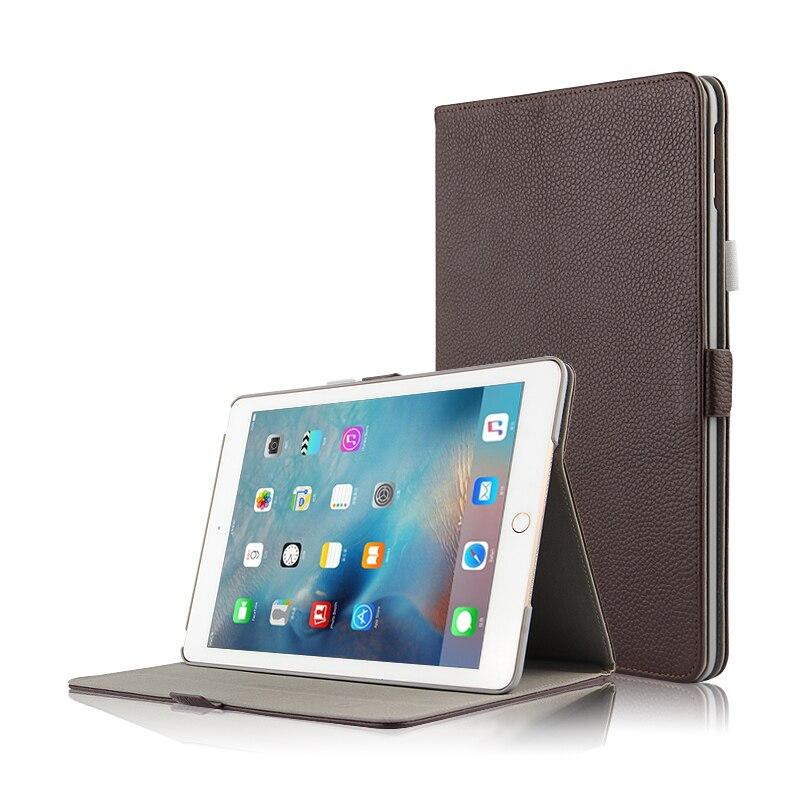 цена на Real Leather Mangetic Closure Stand Funda Capa Case For Apple iPad 9.7 2017 Generation Genuine Leather Smart Sleep Skin Cover