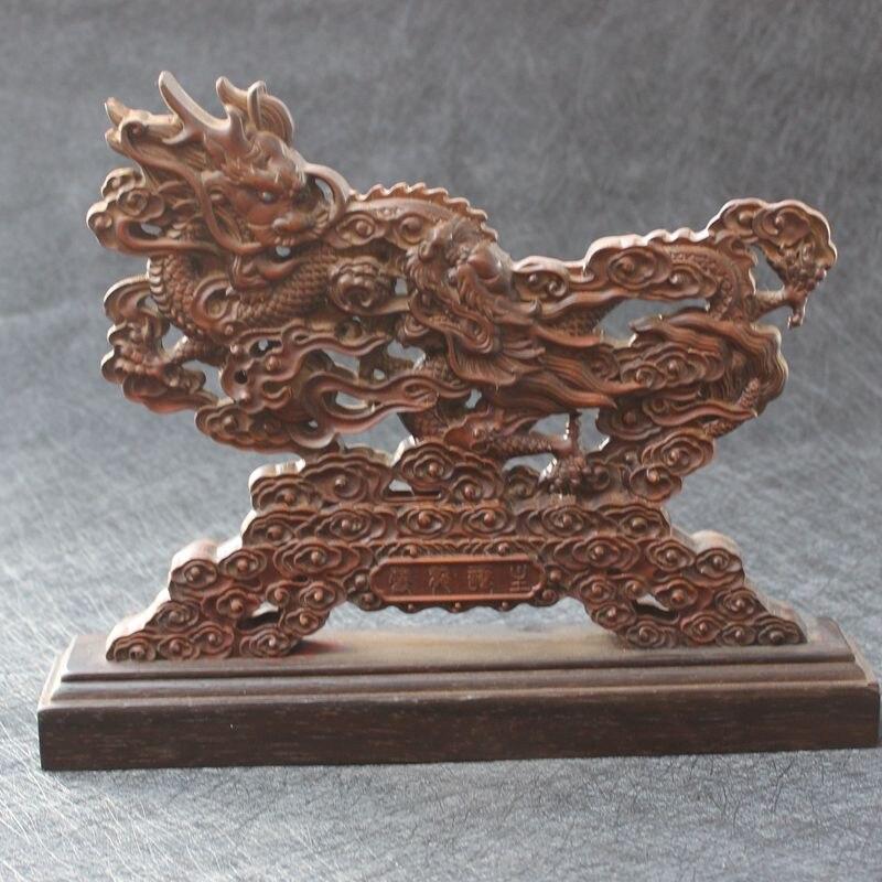 Sculpture sur bois de buis, sculpture sur bois, sculpture sur Dragon, sculpture sur bois massif.