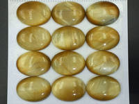 2pcs 22x30mm Golden Tiger Eye Cabochon Large Oval Cabochon Top Quality Tiger Eye Tiger Stone Gemstone