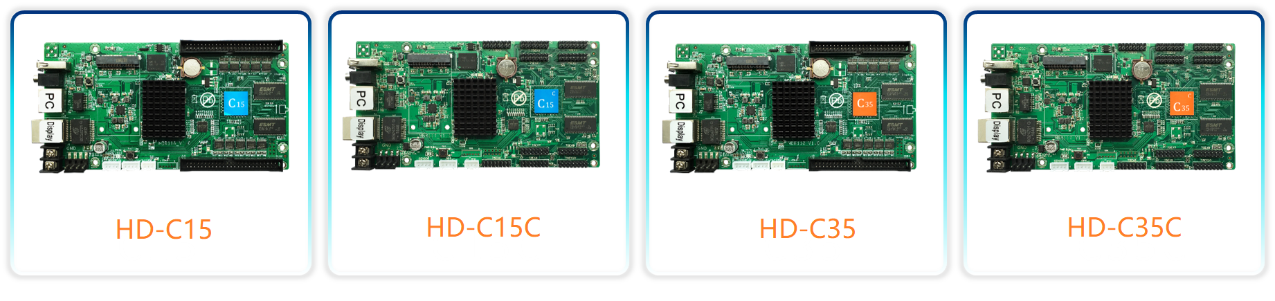 Huidu HD-C15 C15C HD-C35 Asynchronous Indoor & Outdoor LED Video Display Controller Can add 3G/4G/Wifi /Brightness/Temperature