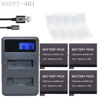 New 4x1600mAh AHDBT 401 AHDBT 401 AHDBT401 Camera Battery For GO PRO Dual Port Home Charger