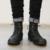 Homens Moda High Top Militar Botas de Deserto Masculinos Calçados Casuais dos homens de Calçados de Couro de Vaca Tornozelo botas de Motoqueiro Cowboy