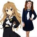 Бесплатная Доставка США Размер XXXL Toradora Айсака Тайга Косплей Костюм Аниме Школьная форма для Девочек