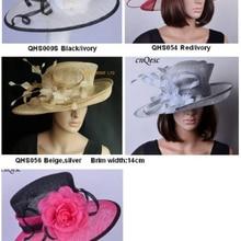 Новые Sinamay шляпы церковь Кентукки Дерби Ascot Пасхальная Шляпа fedora мать th невесты Свадебная женская шляпа