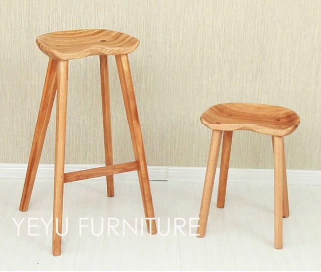 Design Moderno e minimalista In Legno Massello sgabello sgabello ...