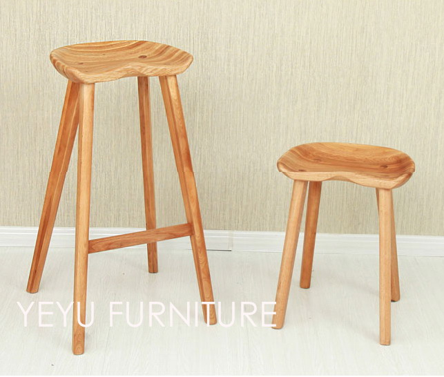 Minimalist Modern Design Solid Wooden Bar Stool Low Stool