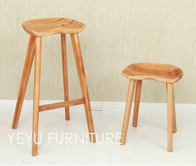 Minimalist Modern Design Solid Wooden Bar stool Low stool Counter ...