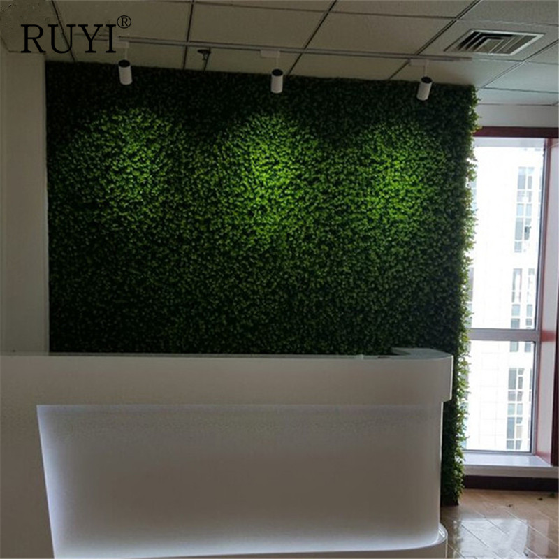 Artificial Grass Wall Green Plant Setting Wall For Home