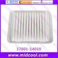 O envio gratuito de alta qulality filtro de ar filtro de cabine 17801 - 14010 1780114010