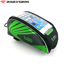 Cycle Touch Screen Phone Bag Safety Light reflective Logo Saddle bags Bike Bicycle PU 5 5