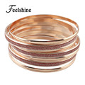 New Arrival Indian Jewelry Big Circle Rosegold Bangles sets Boho Bracelets For Women Famous Brand Jewelry